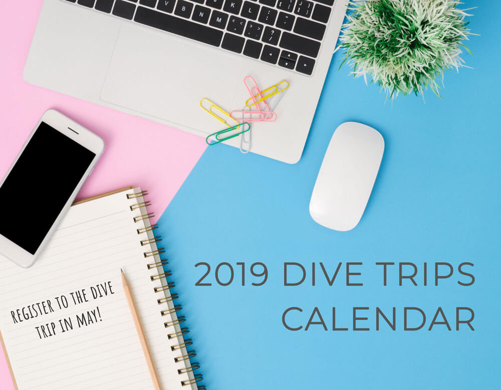 2019 Dive Trips Calendar